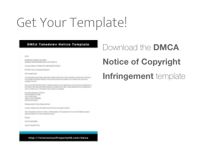 Dmca: DMCA Takedown Notice Template