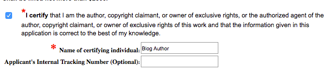 Click the box to certify that you're the copyright owner | Intellectual Property HQ