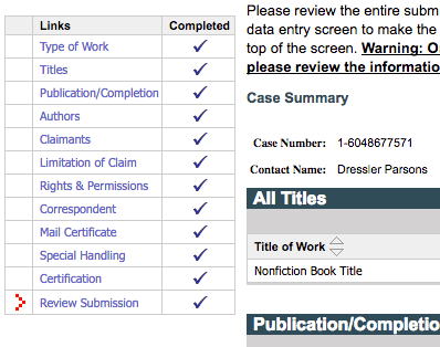 Check to make sure your book copyright is $35 | How to Copyright a Book